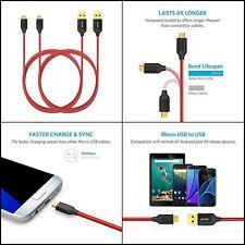 Anker Micro USB Kabel Nylon 1.8M 2Pcs Ladekabel mit Vergoldeten Steckern NEU