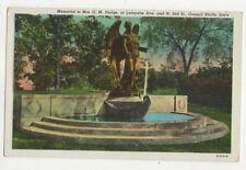 Memorial To Mrs GM Dodge Lafayette Ave Council Bluffs Iowa USA Postcard US023