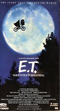 E. T. The Extra Terrestrial VHS Tape
