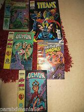 Comics-Arédit-Lot démons 1/2/7/11+Marvel Comics,Titan N0192