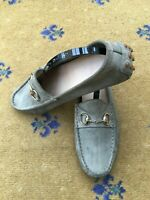 Gucci Womens Shoes Green Suede Horsebit Loafers Drivers UK 4 US 6 EU 37 Ladies