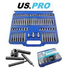 US PRO 75PC Hex, Spline, Torx & Tamper Proof Torx Bit Set 2068