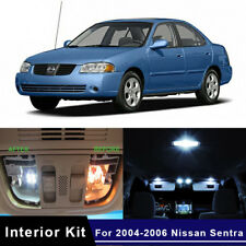 9x White LED Lamp Car Bulbs Interior Package Kit For 2004-2006 Nissan Sentra