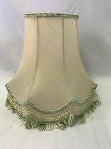 Vintage Green Lamp Shade Tassel Fringe
