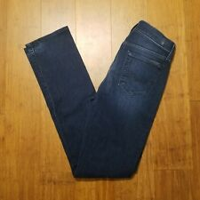 Seven 7 For All Mankind Womens Straight Leg Blue Dark Wash Jeans Size 26