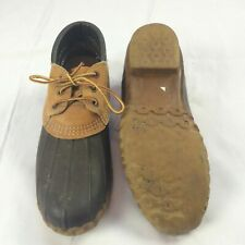 VTG Womens SZ 8 LL Bean Gum Shoes Boots Moc Duck Rain Leather Rubber Hunting USA