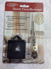 "Mudder Quarzt Clock Movement DIY Quick Easy Repair Kit 1/2"" Shaft Free Shipping!"