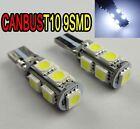2pcs T10 9SMD 9 LED 501 Canbus NO ERROR INTERIOR & SIDE Wedge Light Bulb White
