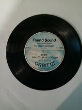 "Found Sound From Outer Space 33rpm 7"" Record - Glenn Derringer - Wurlitzer 1971"