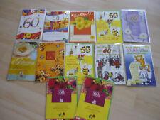 12 Geburtstagskarten zum 60. Geburtstag, Glückwunschkarten
