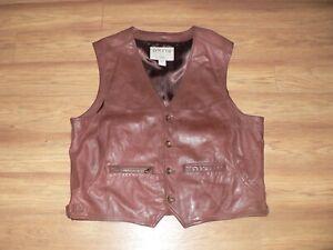 Orvis 100% Leather Vest Men's XL