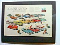 1957 Chevrolet Belair Corvette*Ready to Display*Original*GM Car ad print Nomad