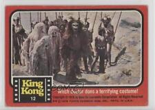1976 Topps King Kong #12 Witch Doctor Dons a Terrifying Costume! Card z6d