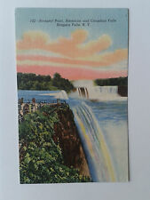 Prospect Point American and Canadian Falls Niagara Falls USA 1950's Postcard