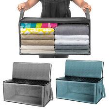 Foldable Non-woven Clothes Quilt Blanket Zipper Storage Bag Organizer Box Holder