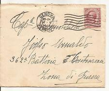 27-5-1918 c. 10 LEONI ISOLATO SU BUSTA INDIRIZZATA IN ZONA DI GUERRA