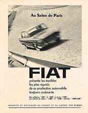 PUBLICITE ADVERTISING  1960   FIAT   les utilitaires