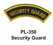 """NEW SECURITY GUARD EMBROIDERED PATCHES 4"""""""