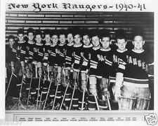 1940-1941 NEW YORK RANGERS  8X10 TEAM PHOTO