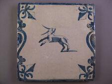 Antique Dutch animal Tile Kandelaber billy-goat rare 17th -free shipping