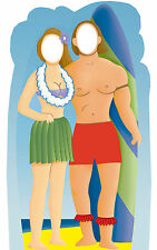 Surfer Couple - Standing Life Size Stand In Cardboard Cutout C558