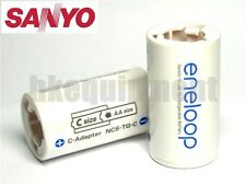 Sanyo Eneloop Battery Adaptor Converter AA to C R14 x8