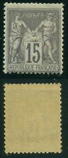 "FRANCE N° 77 ""  SAGE 15c GRIS,  N SOUS U  "" NEUF X TB"