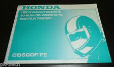 Manual Del Propietario Instruktieboek Honda CB 600 F /II Manual Del Propietario