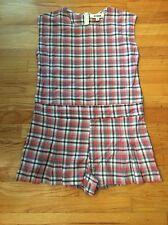 RYDER Shorts Romper Red Plaid NEW Med Australian Brand Pleated