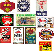 o scale vintage, weathered motor oil decals