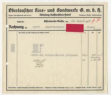 47/35 RECHNUNG ELSTERWERDA BIELA KALKSANDSTEIN FABRIK NACH PLESSA JAHR 1932