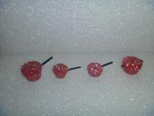 Dollhouse or Barbie Miniatures~*~Red Spatterware / Freckled Metal Pots & Lids #3