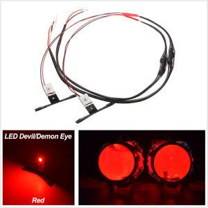 2Pcs Chips Car Truck Red LED Devil Eyes Light Ring For Headlights Retrofit