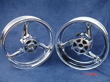 08 09 10 11 12 13  Suzuki Hayabusa Busa Front Rear Chrome Rims GSX 1300R Wheels