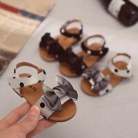 Summer ChildrenShoes Kids Baby Girls Fashion Dot Bowknot Princess Sandals Shoes