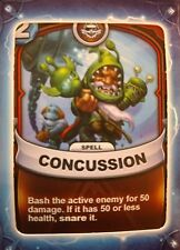Skylanders Battlecast Collector's Card Spell Concussion