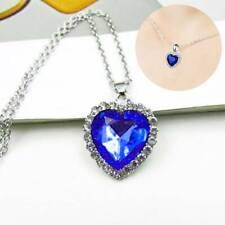 Women Titanic Blue Heart of Ocean Crystal Diamante Necklace Pendant For Women