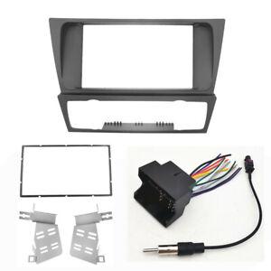 2 DIN Car Dash Radio Frame Cable Kit for BMW 3 Series E90 E91 E92 E93 2004-2012