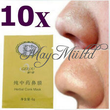 10pcs Herbal Deep Nose Pores Cleansing Stripes Blackheads Remover Conk Mask OV