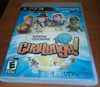 National Geographic Challenge PS3 NTSC U Move Compatible PlayStation RARE HTF