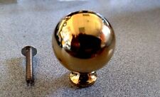 """Baldwin 4961 Round 1 1/4"""" Diameter Solid Brass Cabinet Knob"""