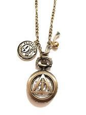 Harry Potter Collana Orologio Doni Della Morte Boccino D'Oro 9 3/4 Nichel Free