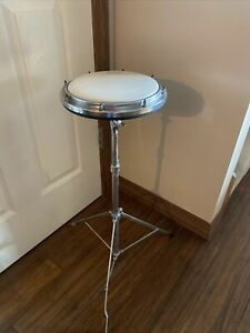 """LUDWIG WEATHER MASTER 8"""" PAD TAMBOURINE  DB-750 METAL SHELL With Stand"""