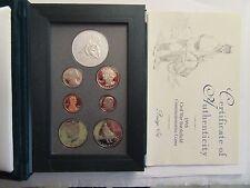 1995 US Mint Prestige Set, Civil War Silver dollar & clad half, 7 coin proof set