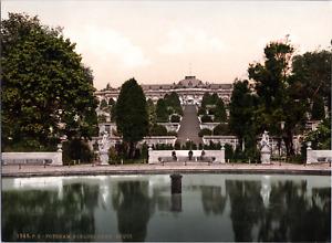 Deutschland, Potsdam. Schloss Sans-Souci. vintage print photochromie, vintage