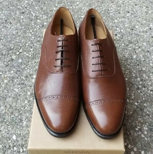 New with Box Meermin Mallorca Mens Brown Pebbled Dress Shoes Oxfords 10/10.5E