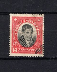 Chile 1915-28 SALAS 14c scarce stamp NOT ISSUE cancelled by favor