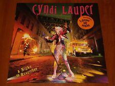 CYNDI LAUPER A NIGHT TO REMEMBER LP *RARE* HOLLAND CBS 1st PRESSING VINYL 1989