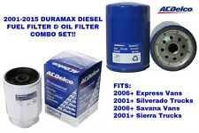 2001-2015 Duramax Diesel AC Delco Oil & Fuel Filter Combo GM New Free Shipping
