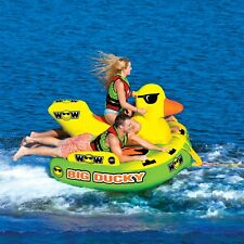 WOW Big Ducky 1 - 3 Riders Towable Ski Tube Inflatable Biscuit Boat Ride